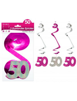 GUIRLANDES SPIRALES 50 ANS