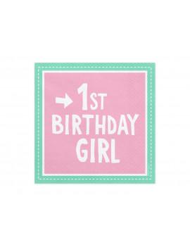 SERVIETTES FIRST BIRTHDAY GIRL