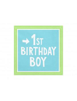 SERVIETTES FIRST BIRTHDAY BOY