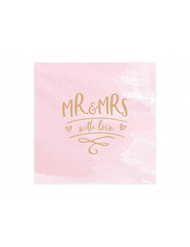 SERVIETTES MR & MRS