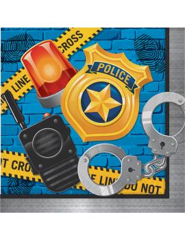 SERVIETTES POLICE