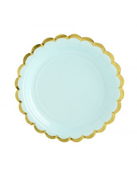 ASSIETTES MINT PASTEL