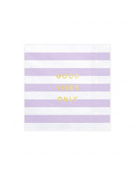 SERVIETTES MAUVES PASTEL