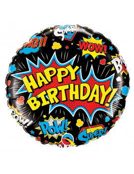 BALLON HAPPY BIRTHDAY POP ART