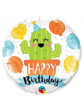 BALLON HAPPY BIRTHDAY CACTUS