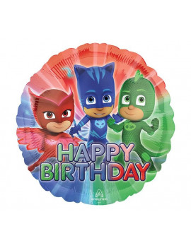 BALLON HAPPY BIRTHDAY PJMASKS