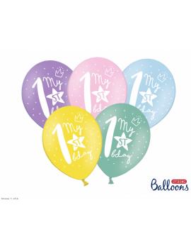 6 BALLONS 1ER ANNIVERSAIRE