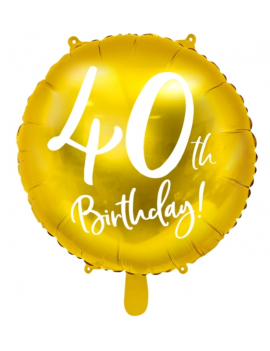 BALLON 40 ANS OR