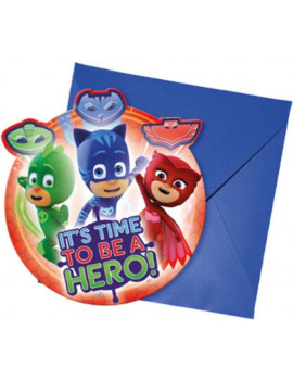INVITATIONS PJ MASKS