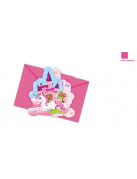 INVITATIONS PRINCESSE LICORNE