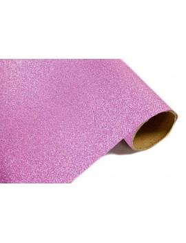 CHEMIN DE TABLE METALLISE ROSE