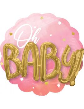 BALLON BABY GIRL 3D