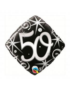 BALLON 50 ARGENT & NOIR