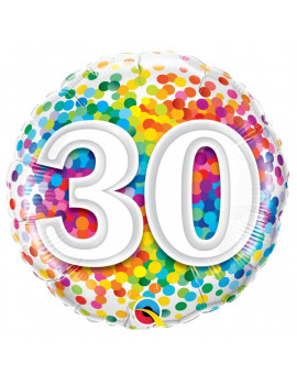 BALLON 30 MULTICOLORE