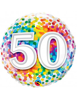BALLON 50 MULTICOLORE