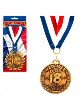 MEDAILLE OR 18 ANS
