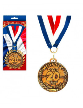 MEDAILLE OR 20 ANS