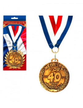 MEDAILLE OR 40 ANS