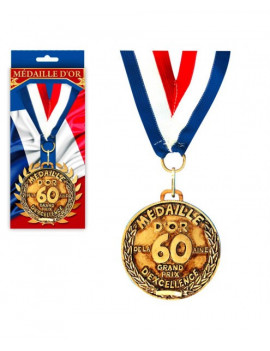 MEDAILLE OR 60 ANS