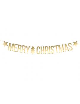 GUIRLANDE MERRY CHRISTMAS GOLD