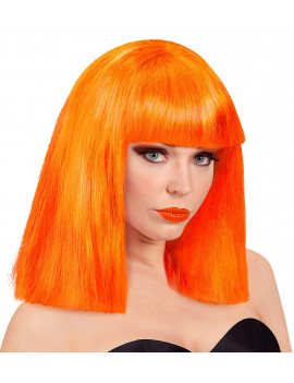 PERRUQUE SHOWGIRL ORANGE FLUO