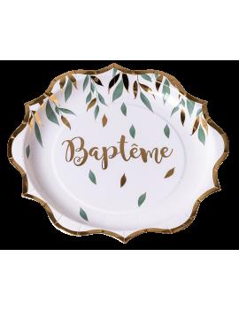 ASSIETTES BAPTÊME VEGETALE