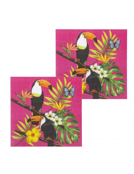 SERVIETTES TOUCAN TROPICAL