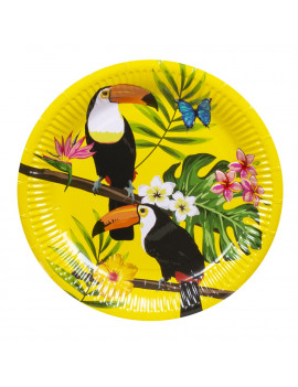 ASSIETTES TOUCAN TROPICALE
