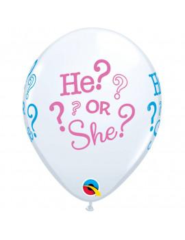 6 BALLONS HE OR SHE ?