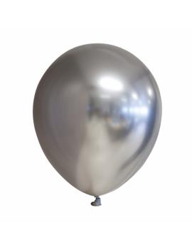 10 BALLONS CHROME ARGENT