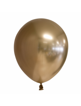 10 BALLONS CHROME OR