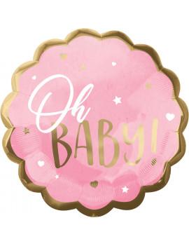 BALLON OH BABY ROSE