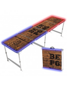 TABLE BEER PONG LUMINEUSE