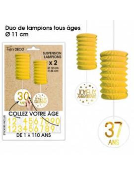 SUSPENSIONS LAMPIONS JAUNES...