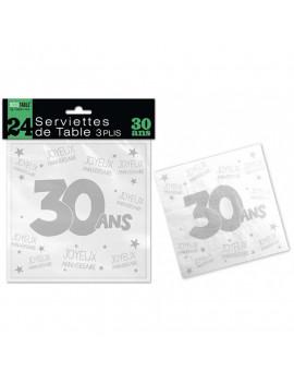SERVIETTES 30 ANS