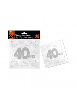 SERVIETTES 40 ANS
