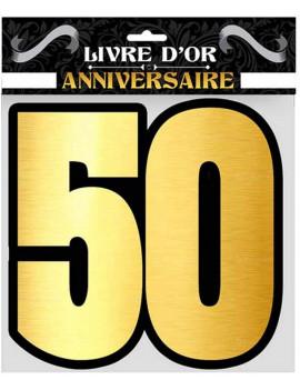 LIVRE D'OR 50 ANS OR & NOIR