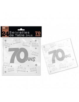 SERVIETTES 70 ANS
