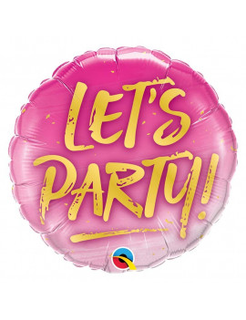 BALLON LET'S PARTY ROSE