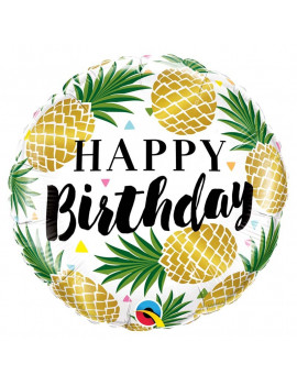 BALLON HAPPY BIRTHDAY ANANAS
