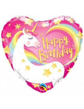 BALLON HAPPY BIRTHDAY LICORNE