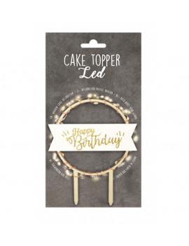 CAKE TOPPER HAPPY BIRTHDAY...