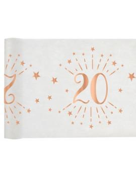 CHEMIN DE TABLE 20 ROSE GOLD