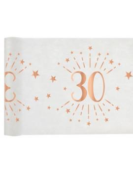 CHEMIN DE TABLE 30 ROSE GOLD