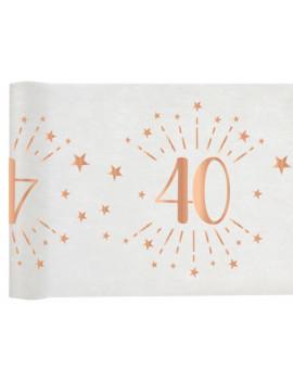 CHEMIN DE TABLE 40 ROSE GOLD