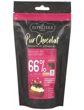 PALETS DE CHOCOLAT NOIR 66%