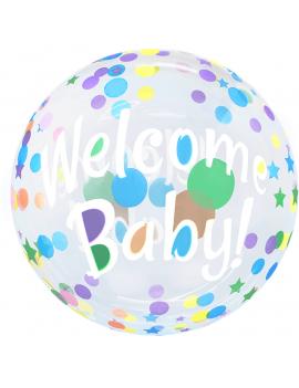 BALLON BUBBLE WELCOME BABY